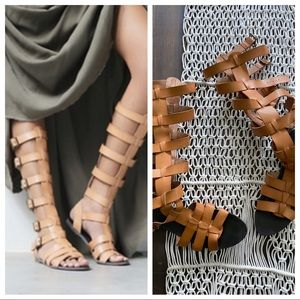 Free People x Faryl Robin Republic gladiator vegan leather sandals